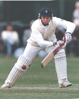 Robert Croft in careful batting mode