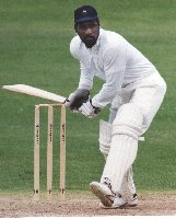 Viv Richards in watchful mode