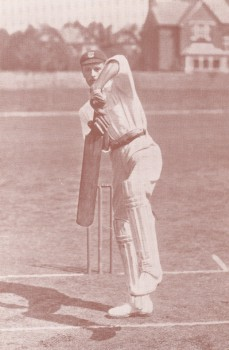 Joseph Vine demonstrates his batting technique