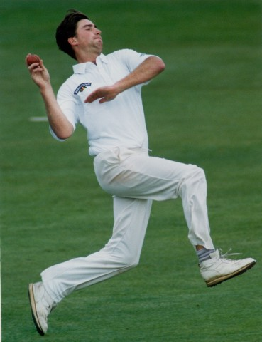 Ed Giddins bowling