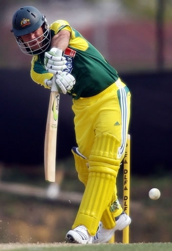 Ponting hits a boundary