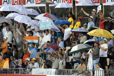 Indian spectators enjoying the match