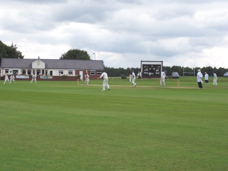 View of the ground showing the pavilion
