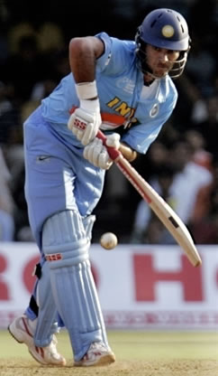 Yuvraj plays a shot