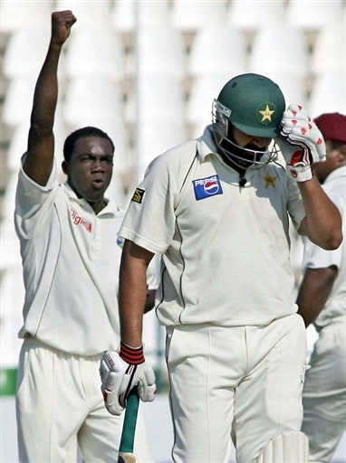 Taylor celebrates the wicket of Inzamam