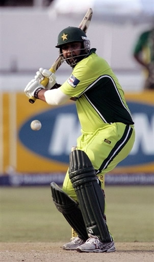 Inzamam-ul-Haq plays a cut shot