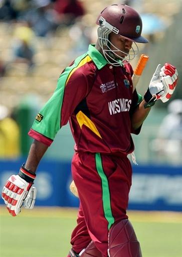 Marlon Samuels leaves after being dismissed
