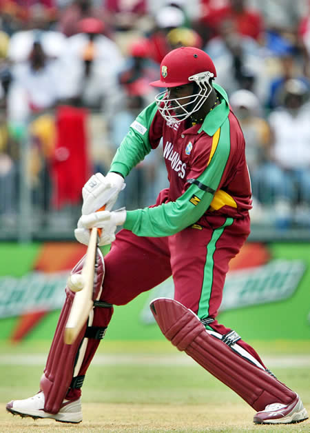Gayle hits a boundary
