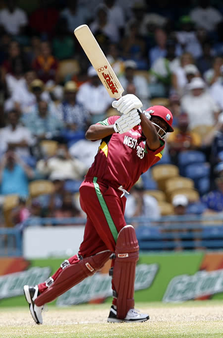 Brian Lara plays a shot