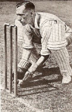 George Dawkes at the stumps