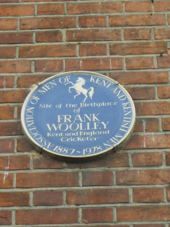 Blue plaque for Frank Woolley