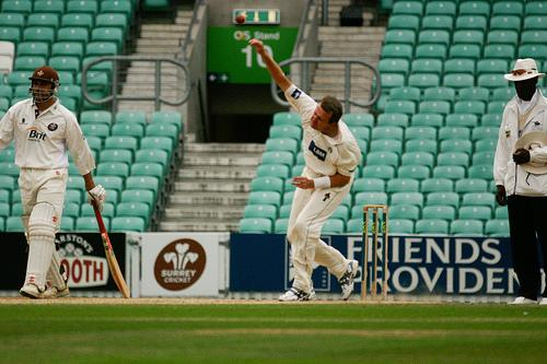 Dominic Cork against Surrey