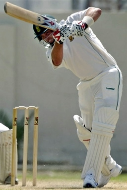 Jacques Kallis plays a stroke
