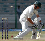AB de Villiers is bowled by Umar Gul