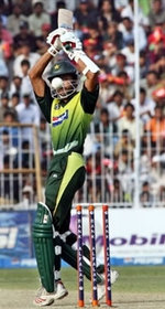Yasir Hameed plays a shot
