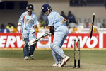Saurav Ganguly is bowled by Sohail Tanvir