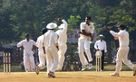 Tinu Yohannan celebrates after the wicket of AK Mohanty