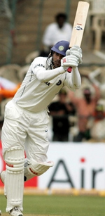 Yuvraj Singh plays an on-drive