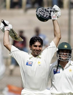 Misbah-ul-Haq celebrates his century
