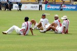 Indian team during practice