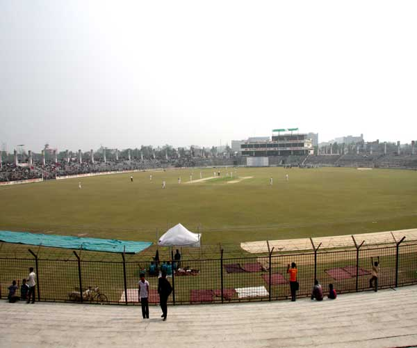 A view of Narayanganj Osmani Stadium during Tour match