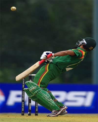 Golam Kibria in action against Australia