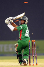 Mohammad Ashraful is bowled by Iftikhar Anjum