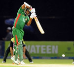 Tamim Iqbal plays a shot