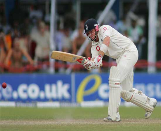 England's Ian Bell in action during the third test in Galle