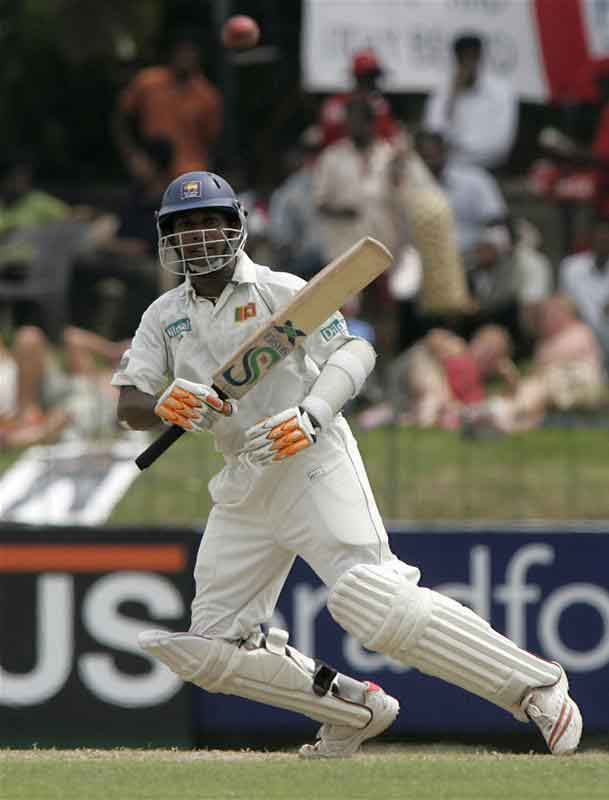Prasanna Jayawardene runs between the wickets after playing a shot