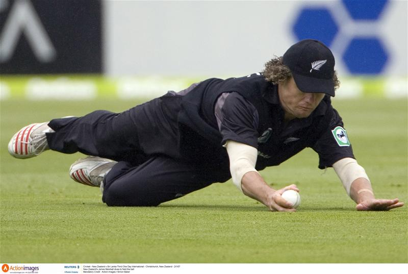 James Marshall in the field during a one day international