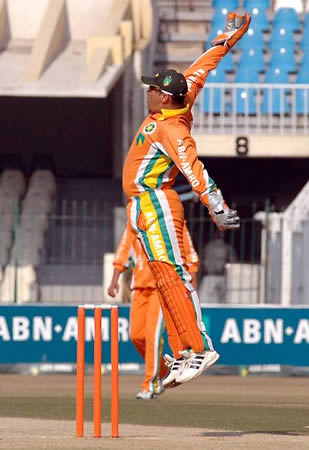 Lahore Lions skipper and wicketkeeper Humayun Farhat
