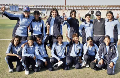 The Karachi Team after defeating Multan by 103 runs