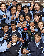 Karachi women all smiles after winning championship