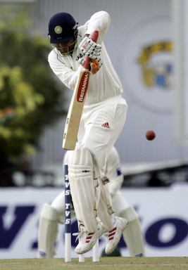 Virender Sehwag hops and flicks to leg on his way to a rapidfire 95*