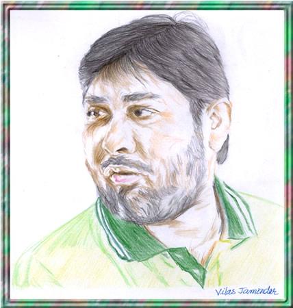 Inzamam-ul-Haq - Portrait Sketch