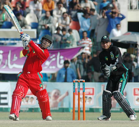 Ali Hussain batting