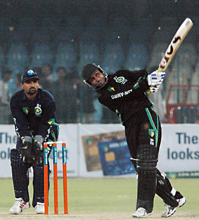 Mohammad Saleem batting