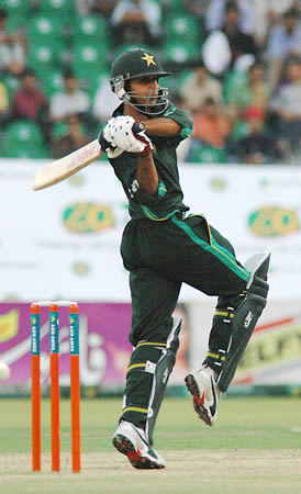 Yasir Arafat batting