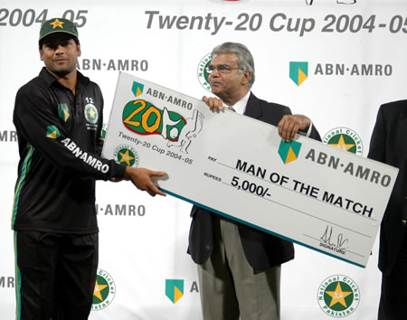Shahid Nazir was Man of the match