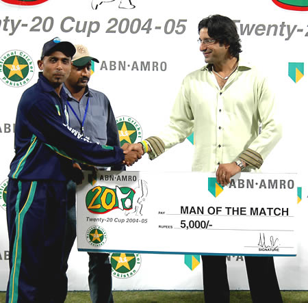 Haaris Ayaz was Man of the Match