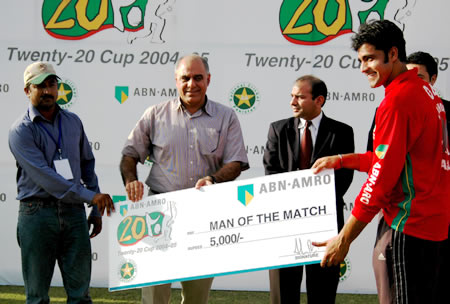 Waqas Ahmed was the Man of the Match
