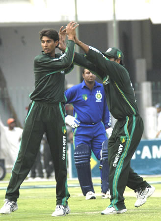 Tigers celebrating a wicket
