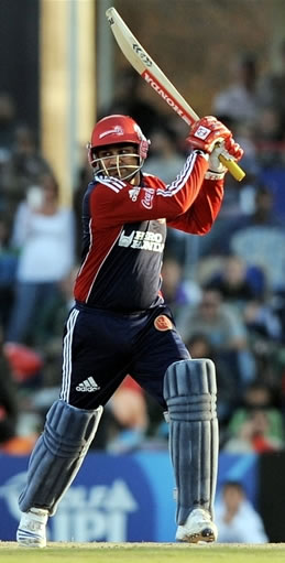 Virender Sehwag plays a cut shot