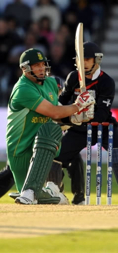 Kallis plays a shot