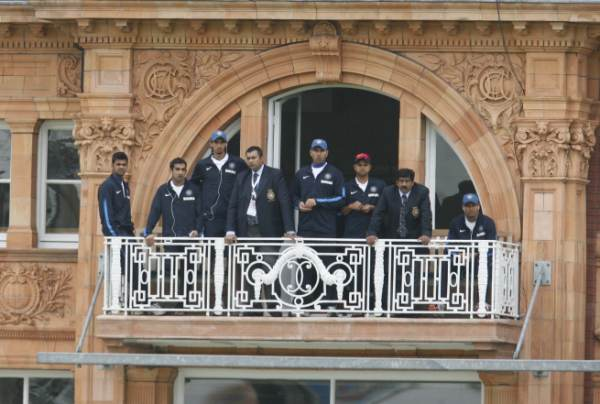 Indian team on Lords balcony
