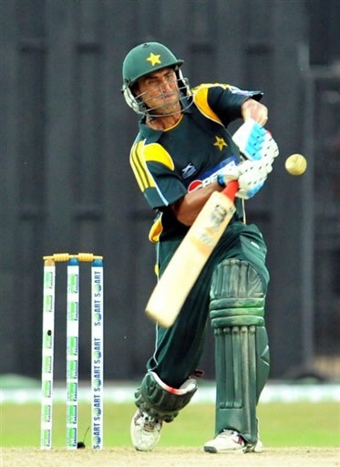 Younis Khan hits a four