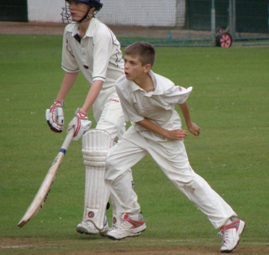 Danny Collins bowling on Colts Tour 2009