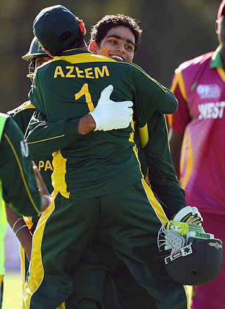 Hammad Azam & Azeem Ghumman celebrate win over West Indies