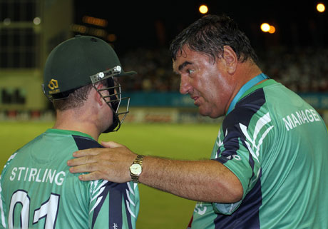 Manager Roy Torrens has words of advice for Paul Stirling